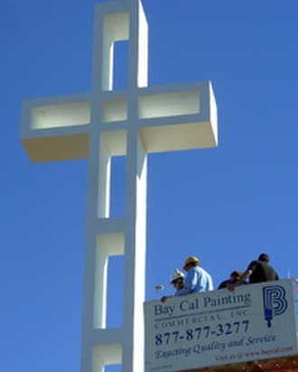 Mount Soledad - Restoration of the cross in 2008.