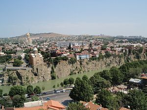 Water supply and sanitation in Georgia (country) - View of Tbilisi, the capital of Georgia.