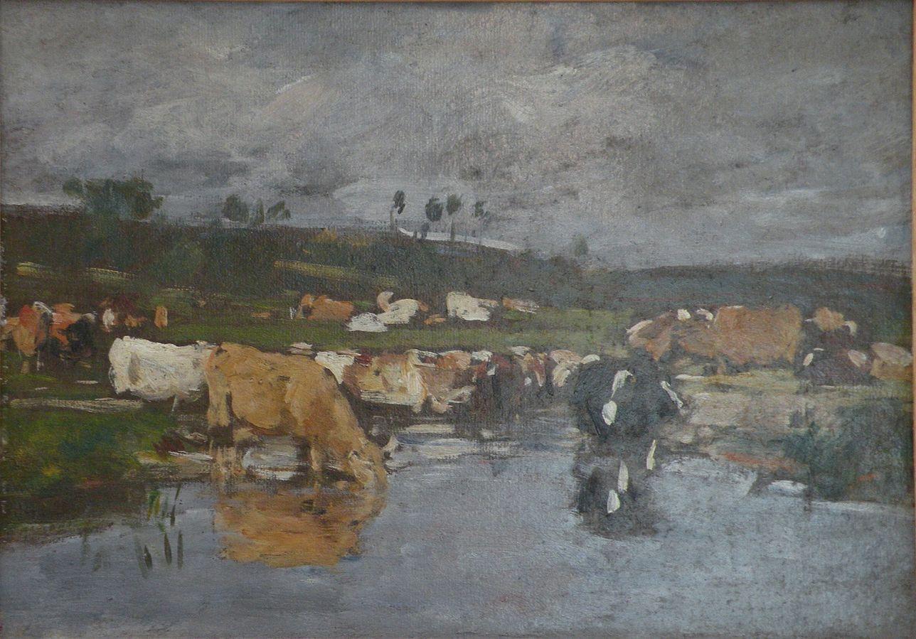 Landschaft, Kühe auf der Weide