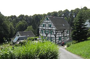 Solingen - Farmyard Mummenscheid in the borough of Wald