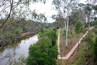 Burnett River - The Burnett River at Mundubbera