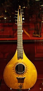 Cittern stringed instrument dating from the Renaissance