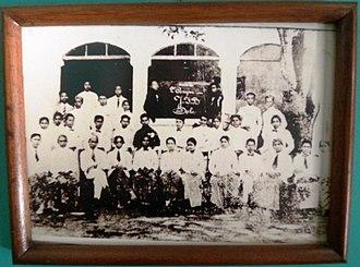 Islam in Indonesia - Jong Islamieten Bond (Young Muslim Union) delegates in Youth Pledge. Batavia, 1928