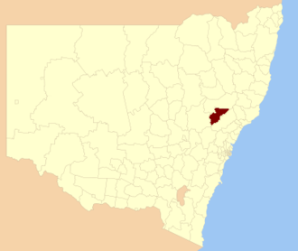 Muswellbrook Shire - Location in New South Wales