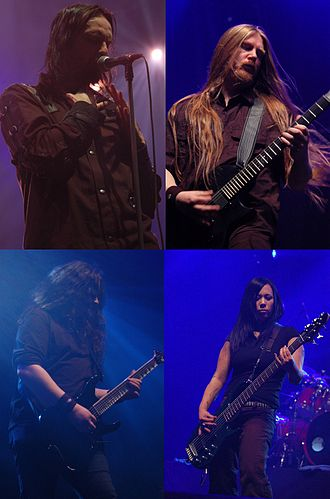 My Dying Bride - Clockwise: Aaron Stainthorpe, Andrew Craighan, Lena Abé, Hamish Glencross.
