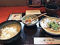 My lunch in a traditional Japanese cafe- that soup was really good (48743956732).jpg