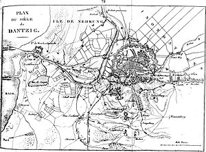 Siege of Danzig (1813) - Danzig (Plan of the siege in 1807).