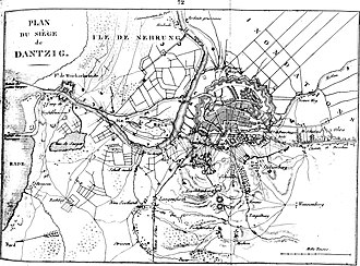 Siege of Danzig (1813) - Danzig (Plan of the siege in 1807).