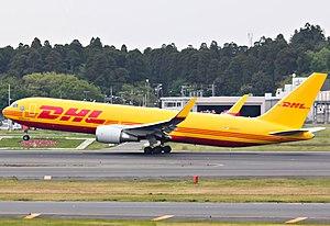 Polar Air Cargo - A Polar Air Cargo Boeing 767-300ERF in DHL Express colours. (2013)
