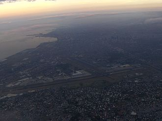 Ninoy Aquino International Airport - A shot of the airport taken from a departing aircraft