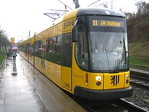 Low-floor tram NGT D12DD of the Dresden Public...