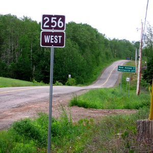 Nova Scotia Route 256 - Start of Route 256 in West New Annan.