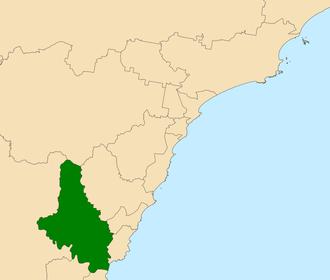 Electoral district of Gosford - Location in Central Coast region