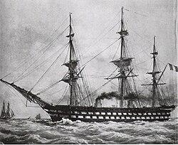 Le Napoléon (1850), the first steam battleship