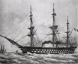 Ship of the line - Le Napoléon (1850), the first steam battleship