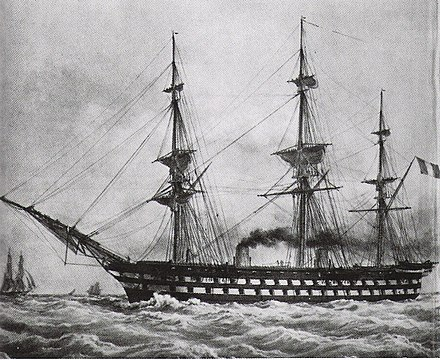 Le Napoleon (1850), the first steam battleship Napoleon(1850).jpg