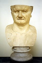 Bust of Titus in the Archaeological Museum in Naples