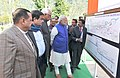 Narendra Modi at the exhibition detailing the 450 MW Baglihar Hydro Electric Project Stage-II, at Chanderkote, Ramban, in Jammu and Kashmir. The Governor of Jammu and Kashmir, Shri N.N. Vohra (1).jpg