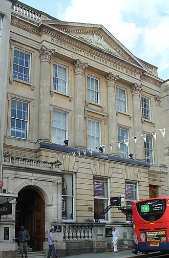 Edmund Francis Law - Exterior of Nat West Bank Northampton, England by architect E. F. Law c. 1841