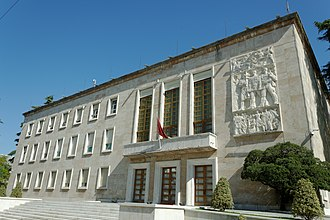 Prime Minister of Albania - The facade of the Kryeministria.