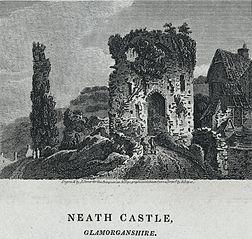 Neath castle, Glamorganshire