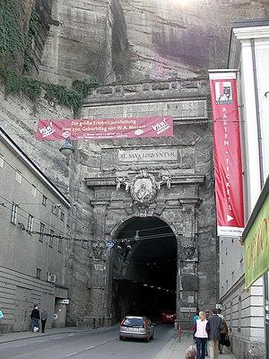 Mönchsberg - Sigmundstor, eastern entrance