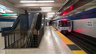 Rapid transit station in San Francisco Bay Area