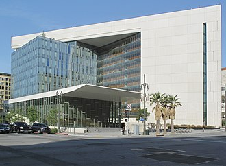 Parker Center - New LAPD Headquarters, at corner of E 1st Street and S Main Street