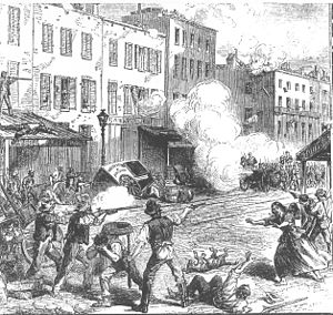 New York City draft riots - Image: New York Draft Riots fighting