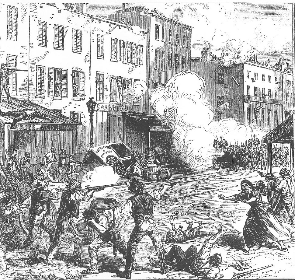 New York Draft Riots - fighting