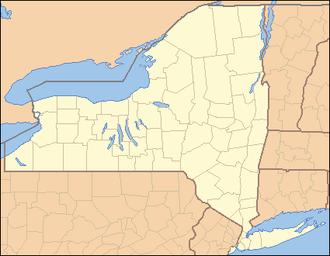 Black Creek (Genesee River) - Image: New York Locator Map