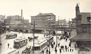Pennsylvania Station (Newark) - The old Newark Penn station ca. 1911