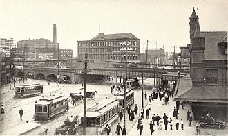 History of Newark, New Jersey - Newark's old Penn station, ca. 1911