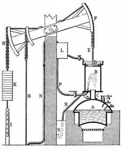 Newcomen's steam powered atmospheric engine was the first practical engine. Subsequent steam engines were to power the Industrial Revolution