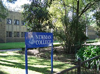 Newman College (University of Melbourne) - The Mannix wing faces Swanston Street
