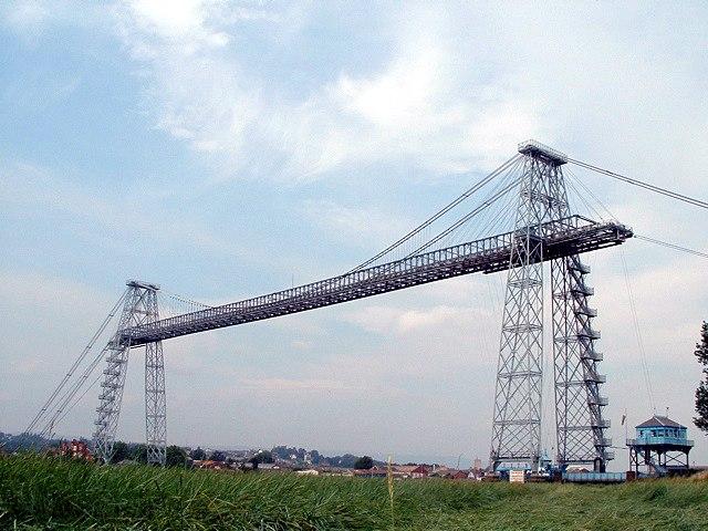 Newport Transporter Bridge from east bank