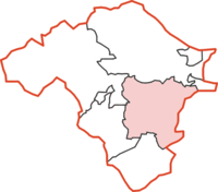 New Radnor Rural District within Radnorshire