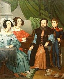 Imagini pentru Niccolo Livaditti, Portretul Vornicului Alecsandri cu familia