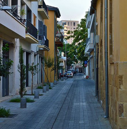 Scheme for new pedestrianized streets in old Nicosia implemented after 2004 Nicosia Eleftheria Ariadnis Street Nicosia Republic of Cyprus.jpg