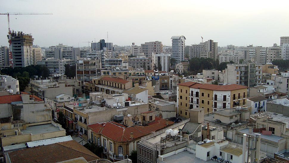 Nicosia skyline view from old part of city