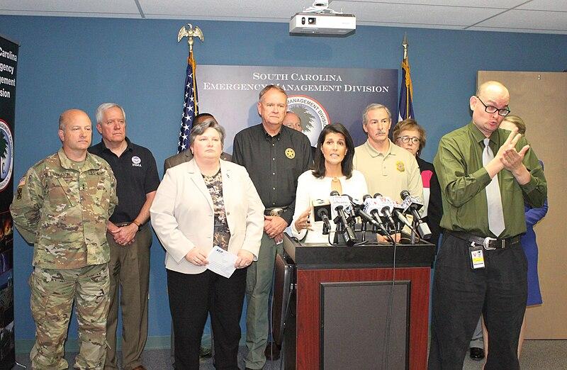 File:Nikki Haley Hurricane Matthew Press Conference 12 (30228633036).jpg