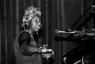 Nina Simone - Simone at a concert in Morlaix, France, May 1982