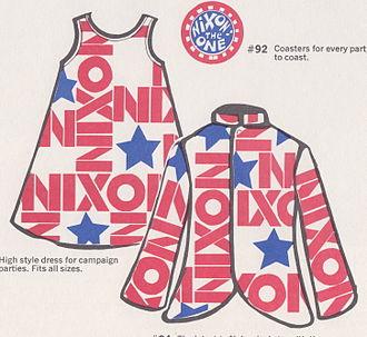 """Bring Us Together - """"Nixonette"""" dress (on left)"""