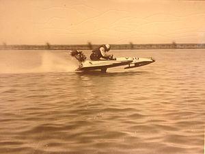 Hydroplane (boat) - No-Vac at speed, 1933