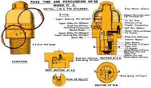 Ordnance BL 12-pounder 6 cwt - Image: No 56Fuze Mk IVC