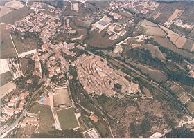 Aerial view of Nocera Umbra (before September 26, 1997).