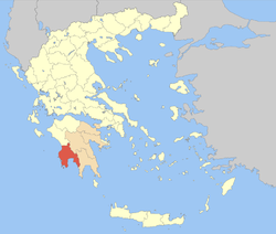 Messinia within Greece