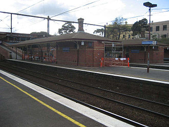 North Melbourne railway station - View from Platform 6 in May 2007