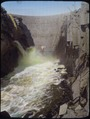North Platte Project - Pathfinder Dam - Lower Face - Discharge 6,500 feet per second. - NARA - 294658.tif