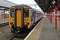 Northern Rail Class 156, 156483, platform 3a, Stockport railway station (geograph 4525133).jpg